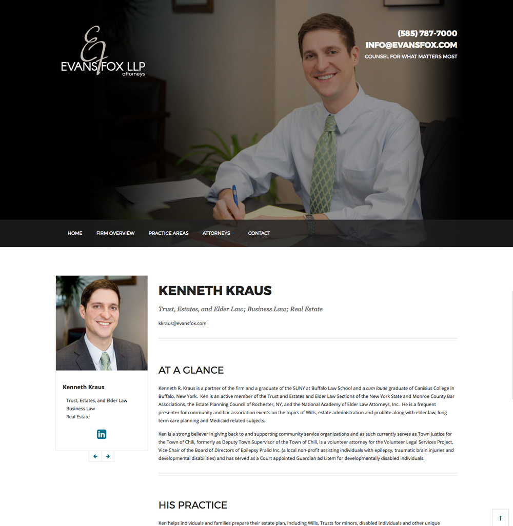 Evans Fox LLP Website