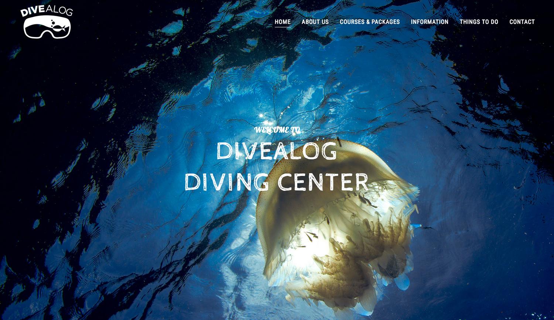 Divealog Website