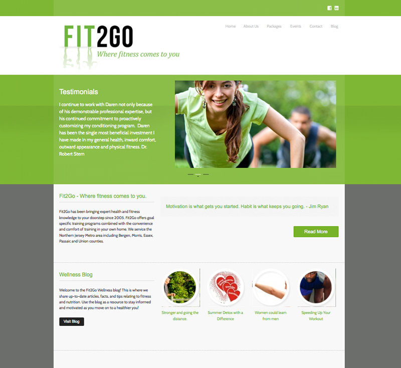 Fit2Go Website